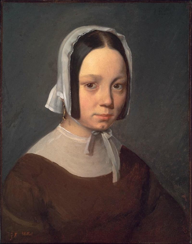 Jean-François Millet. Portrait of Pauline-Virginie Ono, artist's first wife