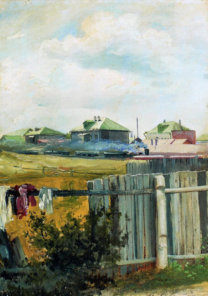 Исаак Ильич Левитан. Пейзаж с забором