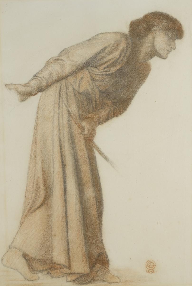 """Данте Габриэль Россетти. Склонившаяся женщина. Эскиз для картины """"Сон Данте"""""""