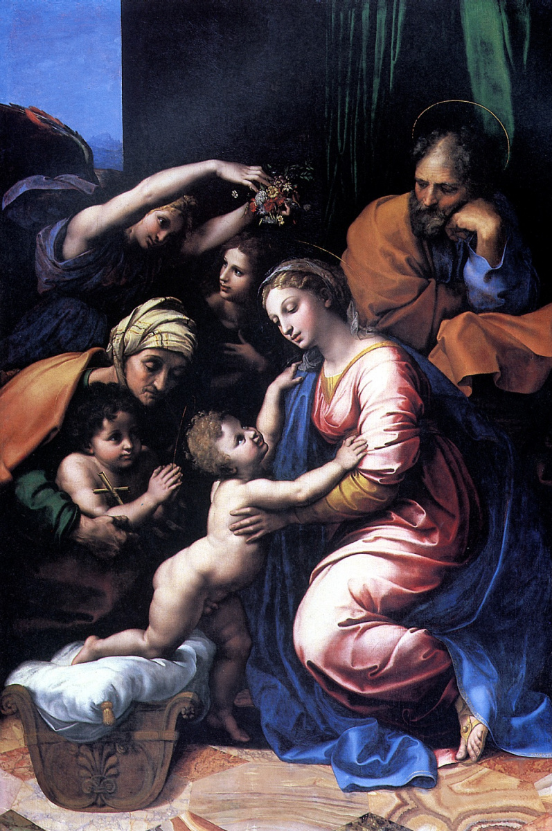 Рафаэль Санти. Святое семейство, или Большое Святое семейство Франциска I