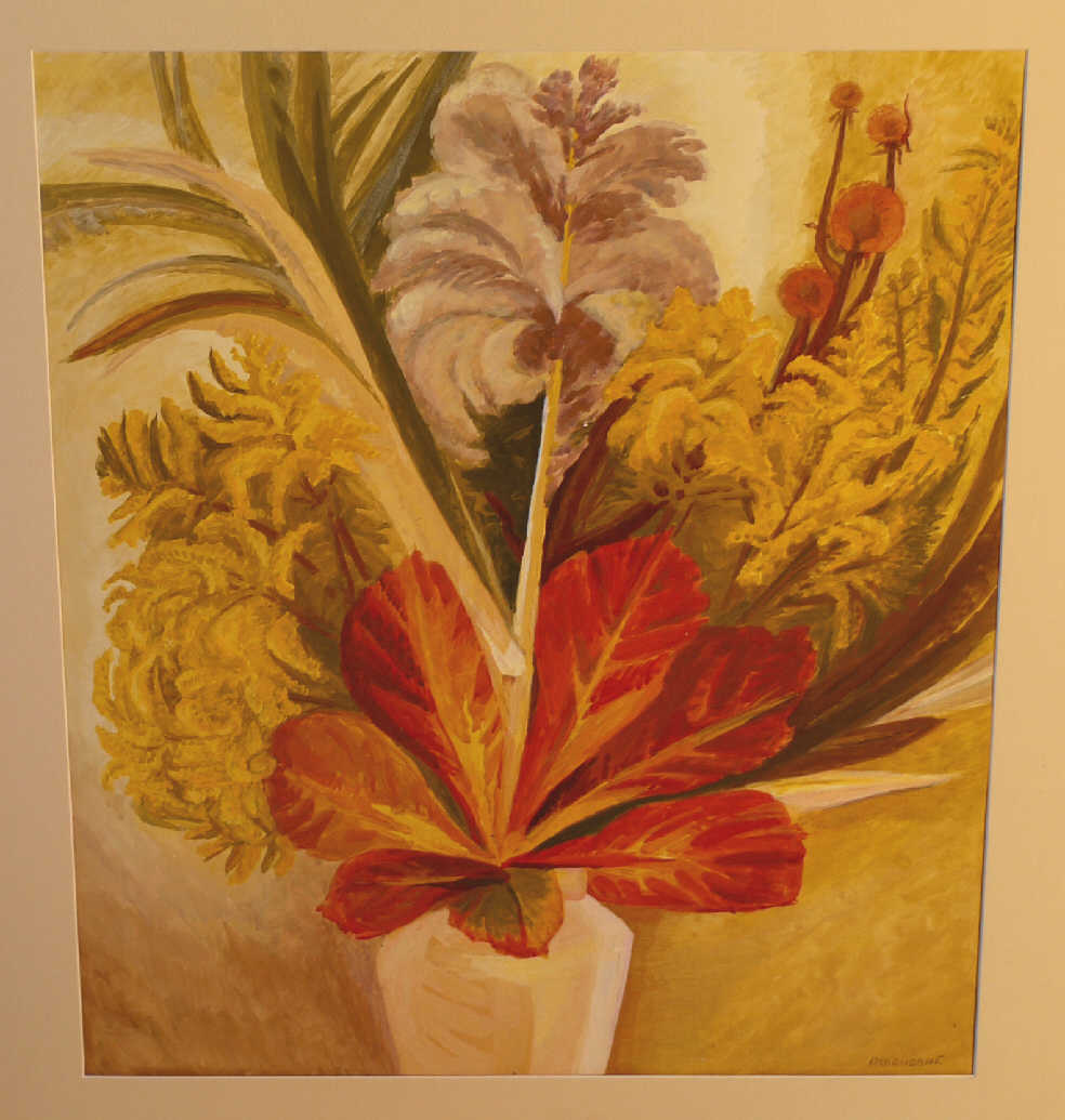 "Galina Vasilyevna Atlanova. ""The bouquet with the chestnut leaf"""