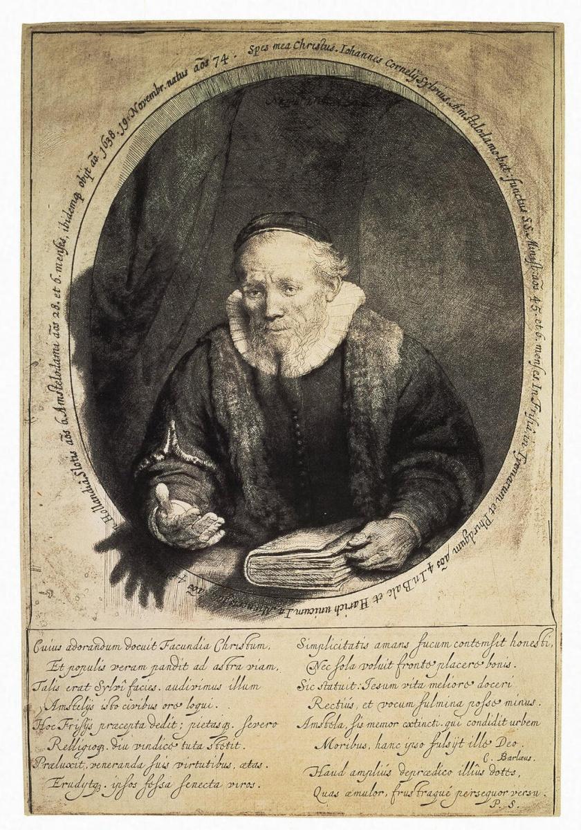 Рембрандт Харменс ван Рейн. Портрет проповедника Яна Сильвиуса