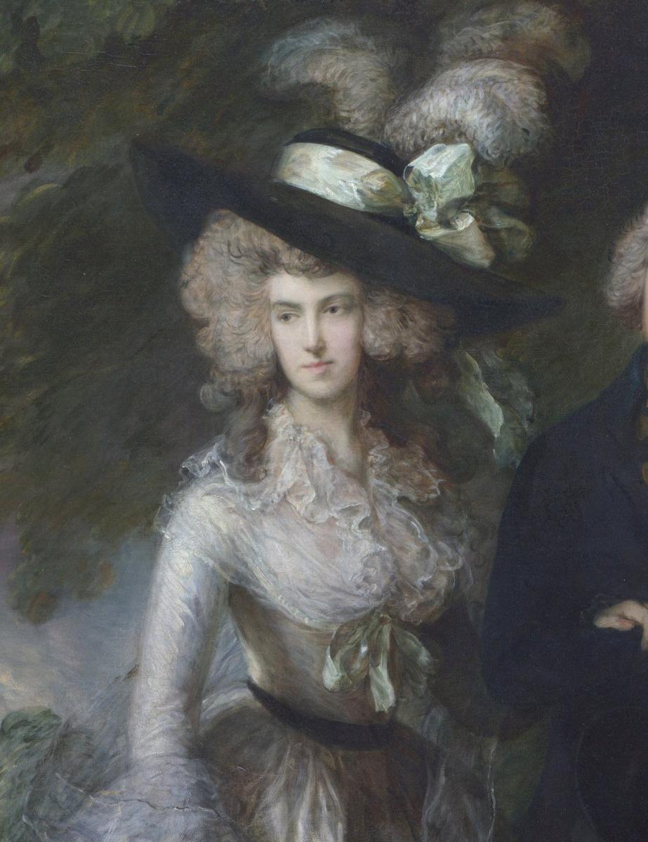 Томас Гейнсборо. Утренняя прогулка. Портрет сквайра Уильяма Хэллета с супругой Элизабет. Фрагмент