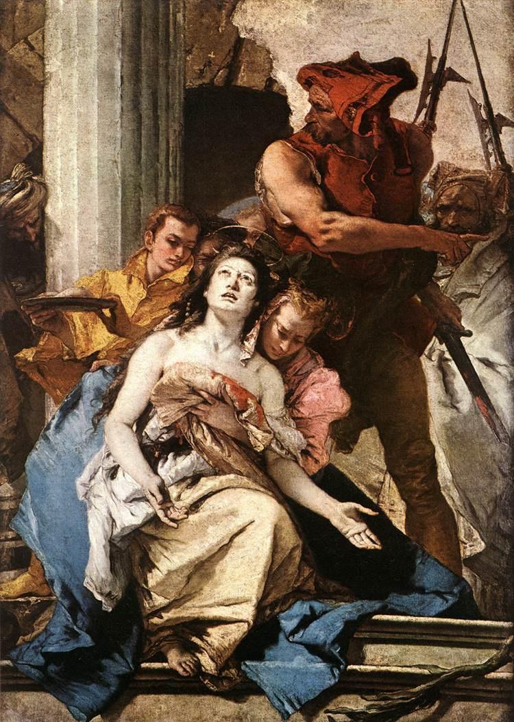 Giovanni Battista Tiepolo. Martyrdom of Saint Agatha