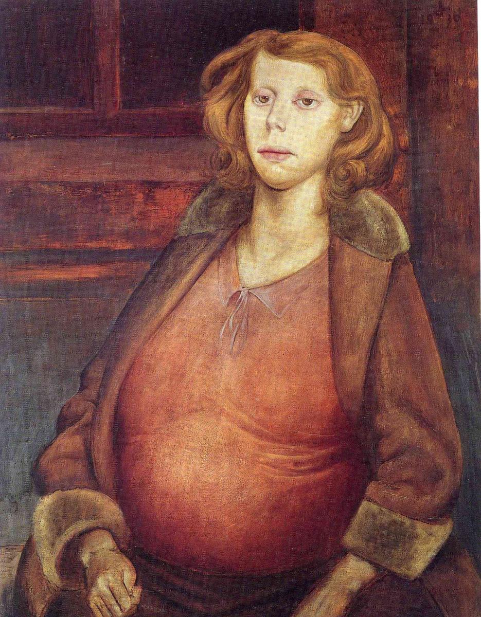 Отто Дикс. Беременная женщина