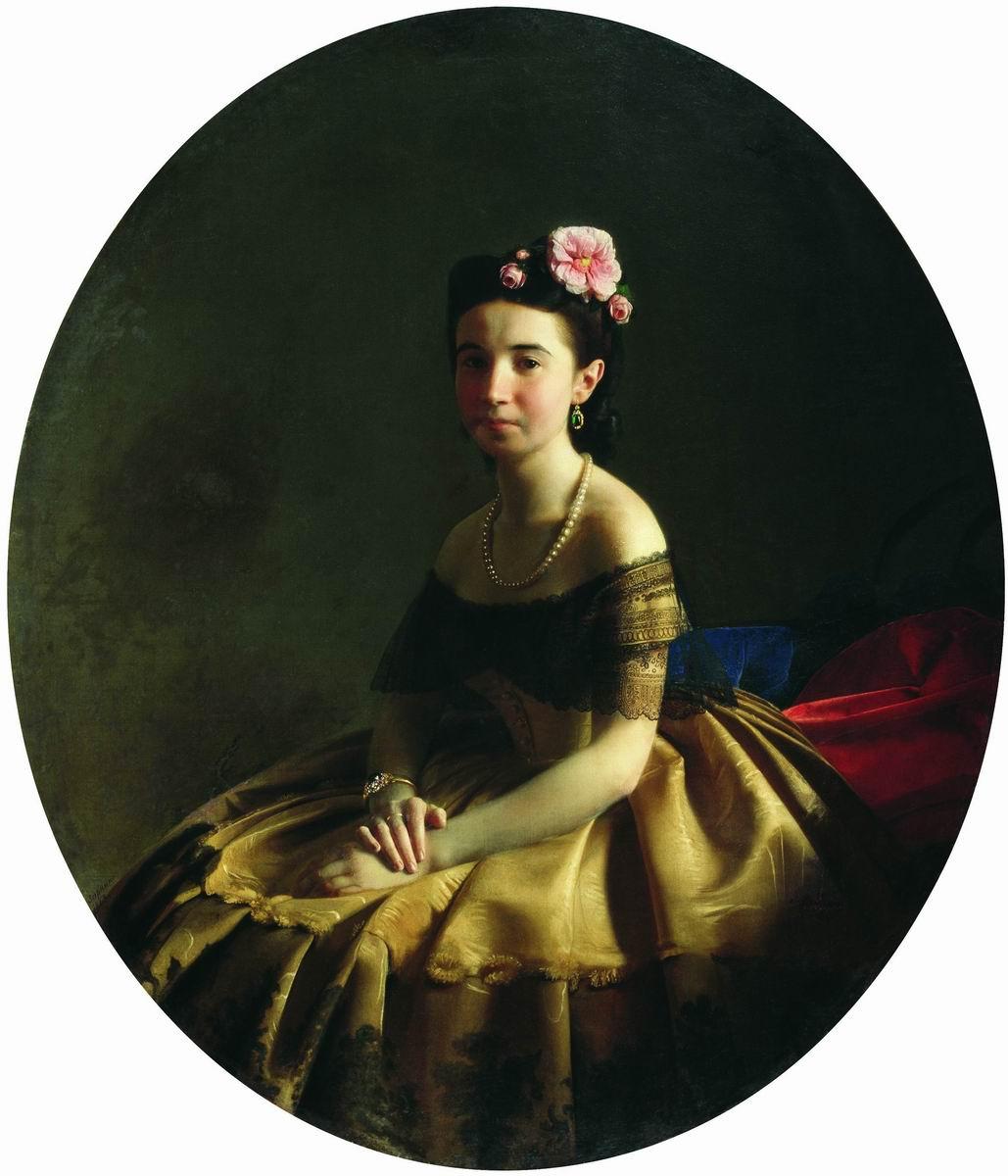 Sergey Konstantinovich Zaryanka. Woman's portrait (Princess KA Abaza?)