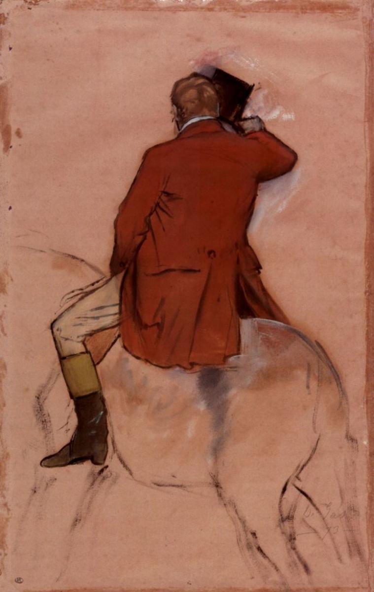 Эдгар Дега. Всадник в красном сюртуке