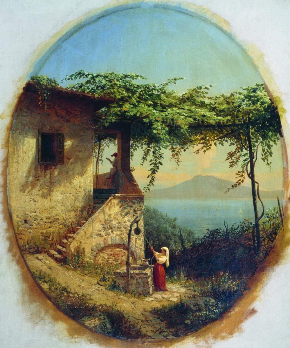 Lev Feliksovich Lagorio. View from Ischia to Vesuvius
