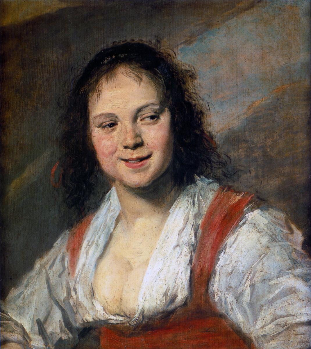 France Hals. The Gypsy Girl