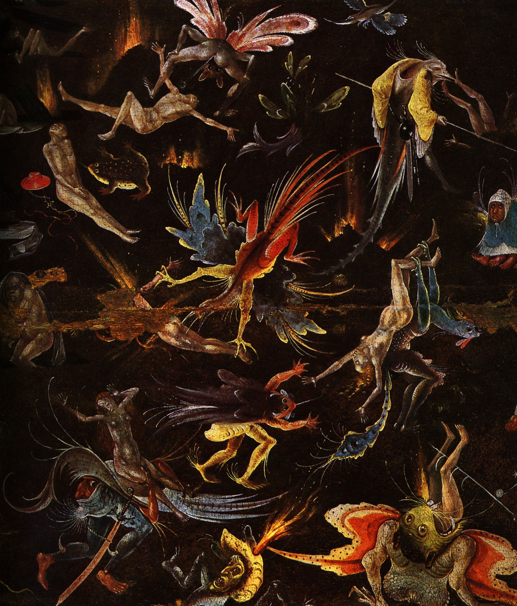Hieronymus Bosch. Judgment. Fragment