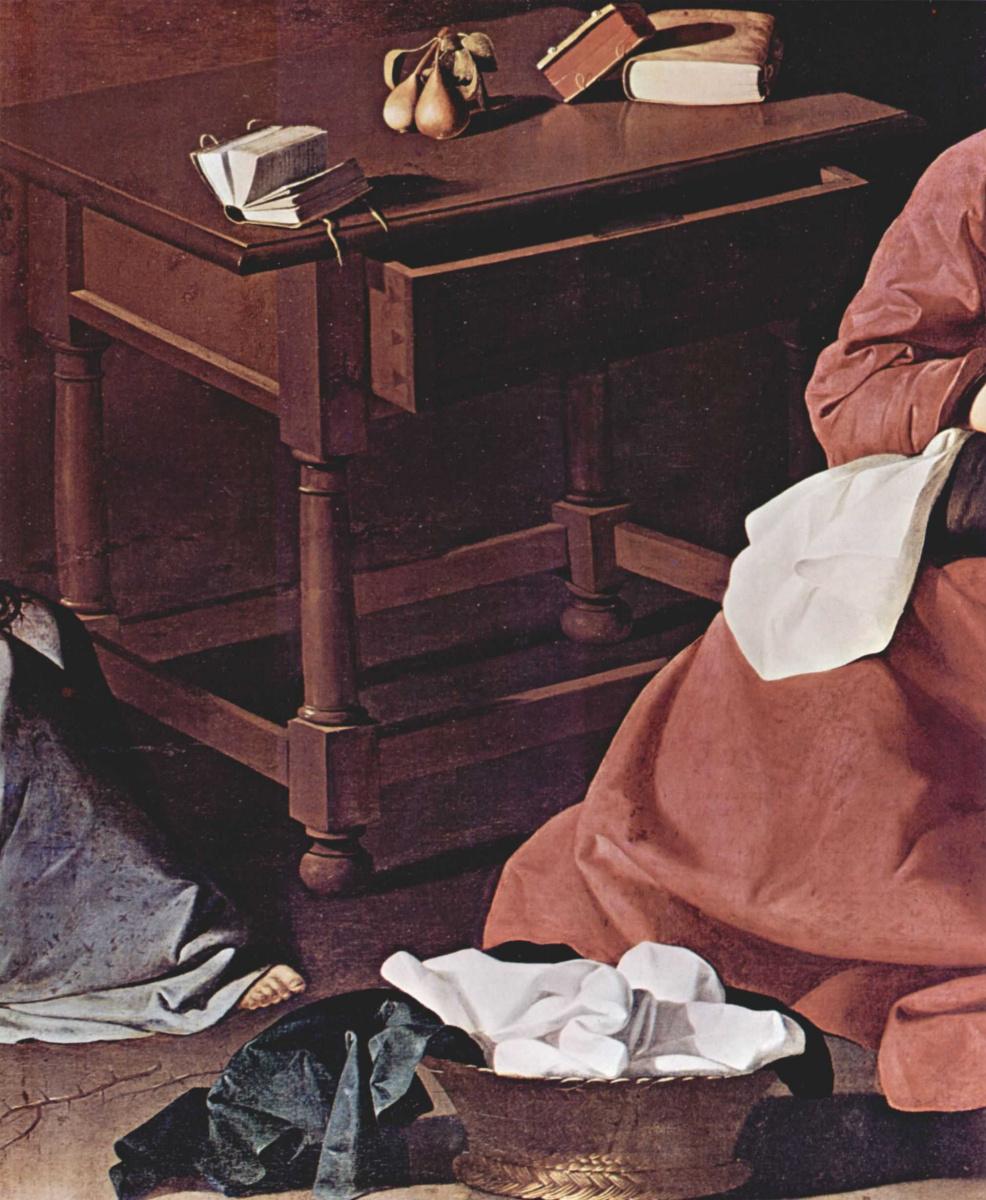 Франсиско де Сурбаран. Отрок Иисус, созерцающий терновый венец. Фрагмент