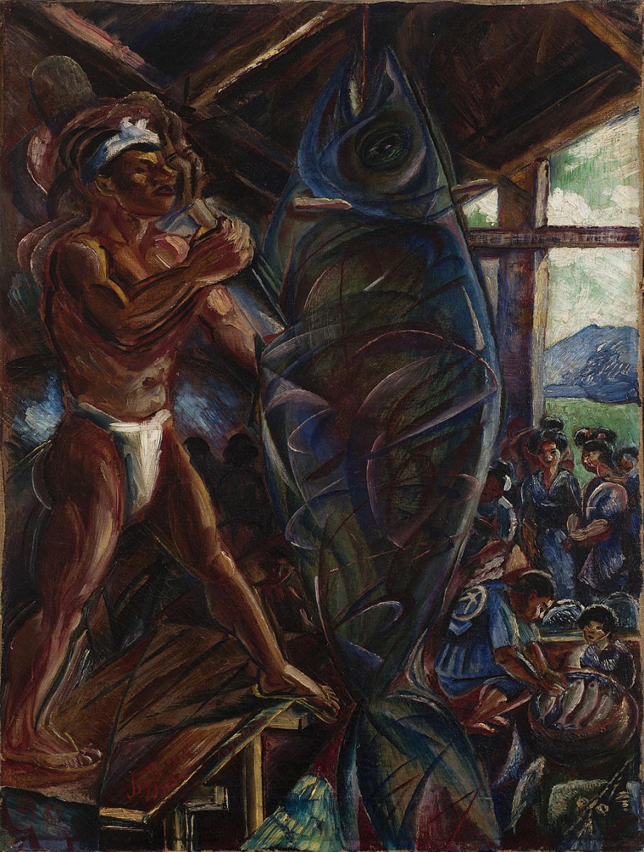 Давид Давидович Бурлюк. Японец, разделывающий тунца