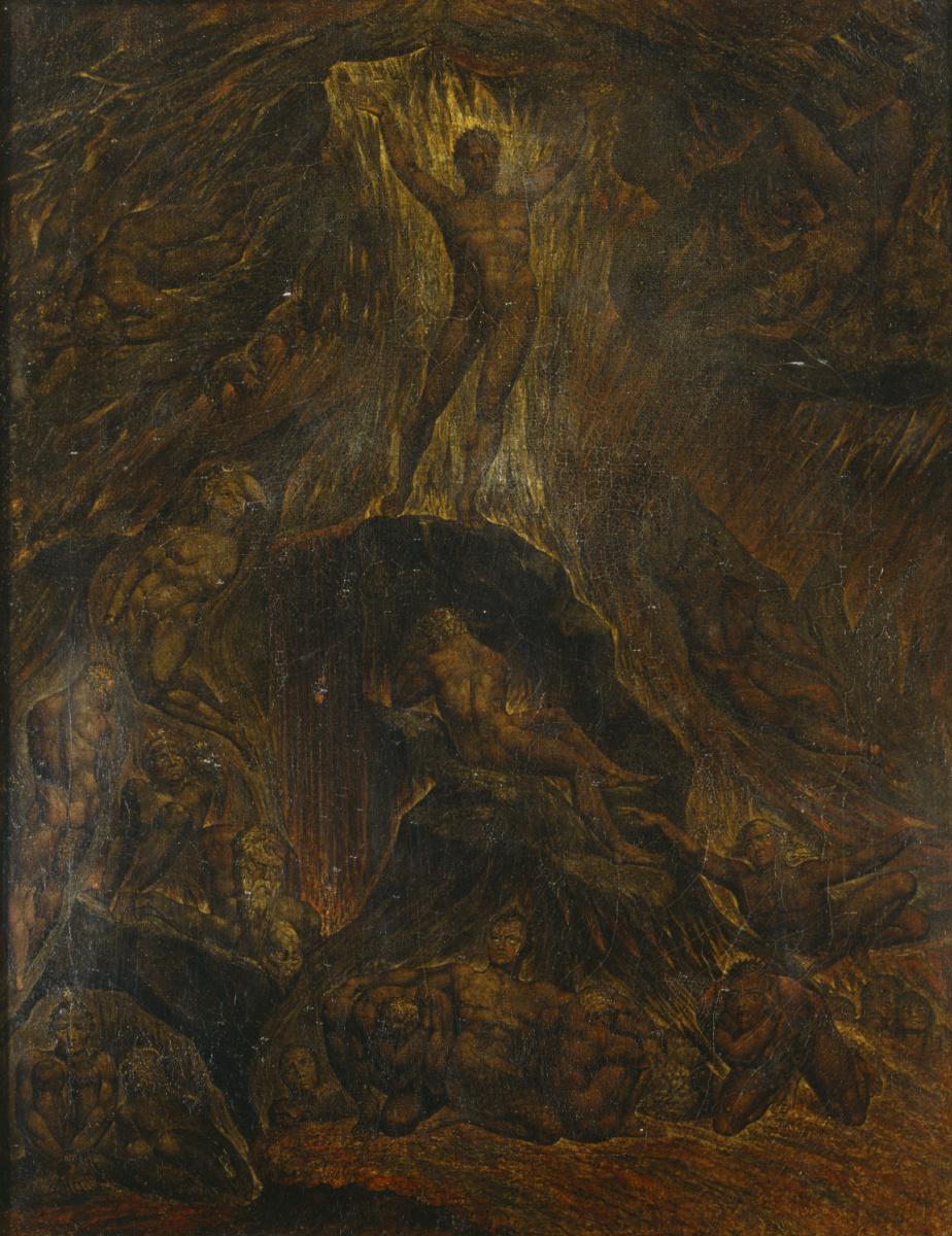 """Уильям Блейк. Сатана, призывающий свои легионы. Иллюстрации к поэме Мильтона """"Потерянный рай"""""""