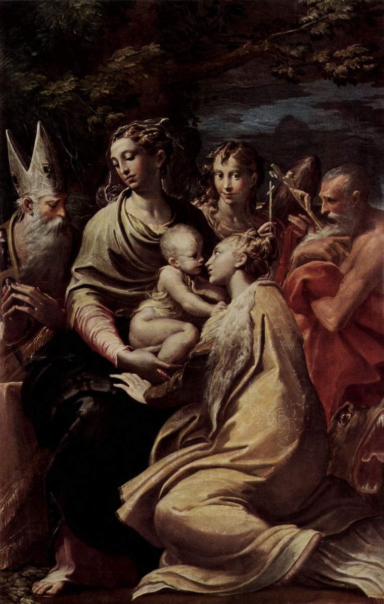 Франческо Пармиджанино. Мадонна со св. Магдаленой, св. Петром, св. Иеронимом и св. Михаилом