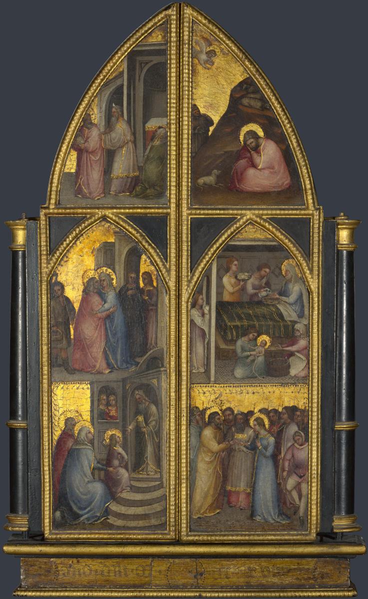 Де Менабуои Джусто. Коронация Девы Марии, и другие сцены