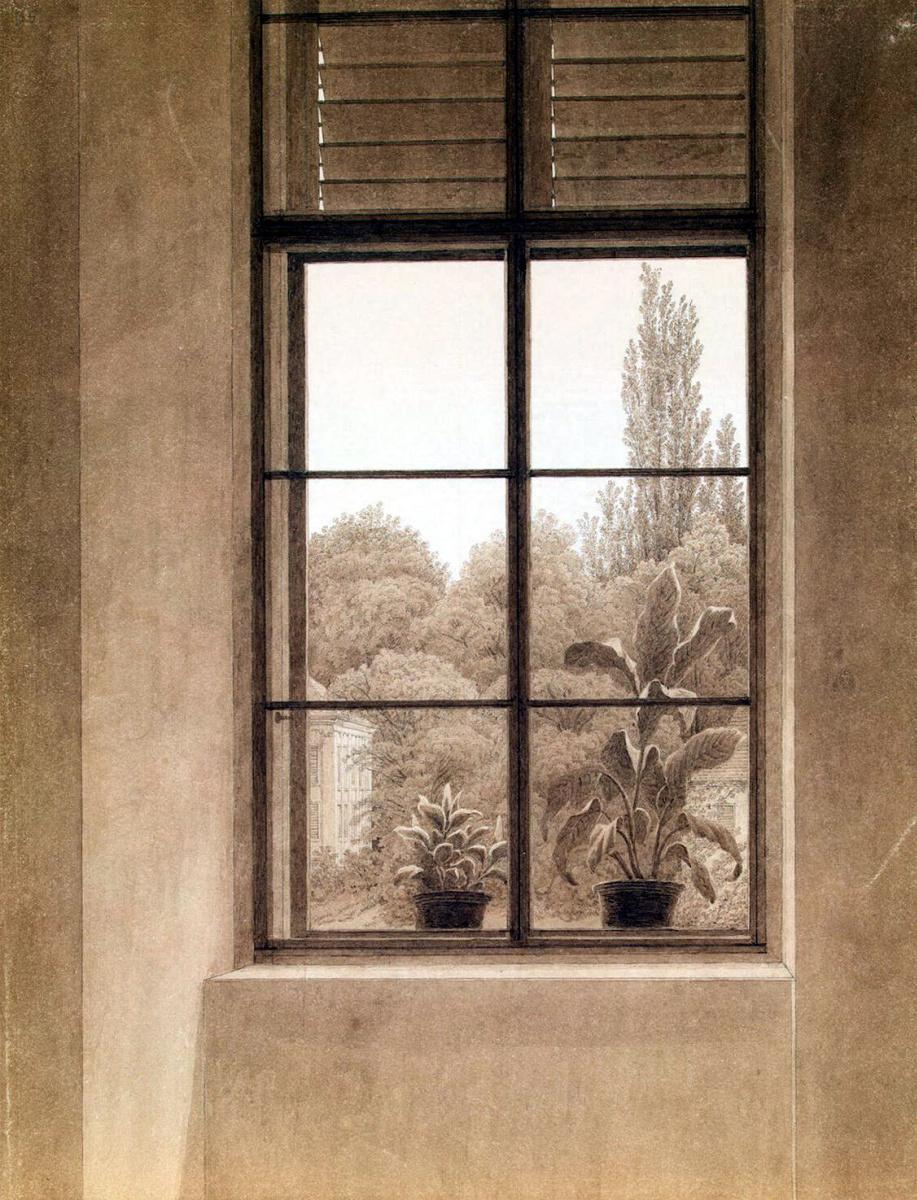 Каспар Давид Фридрих. Окно с видом на парк