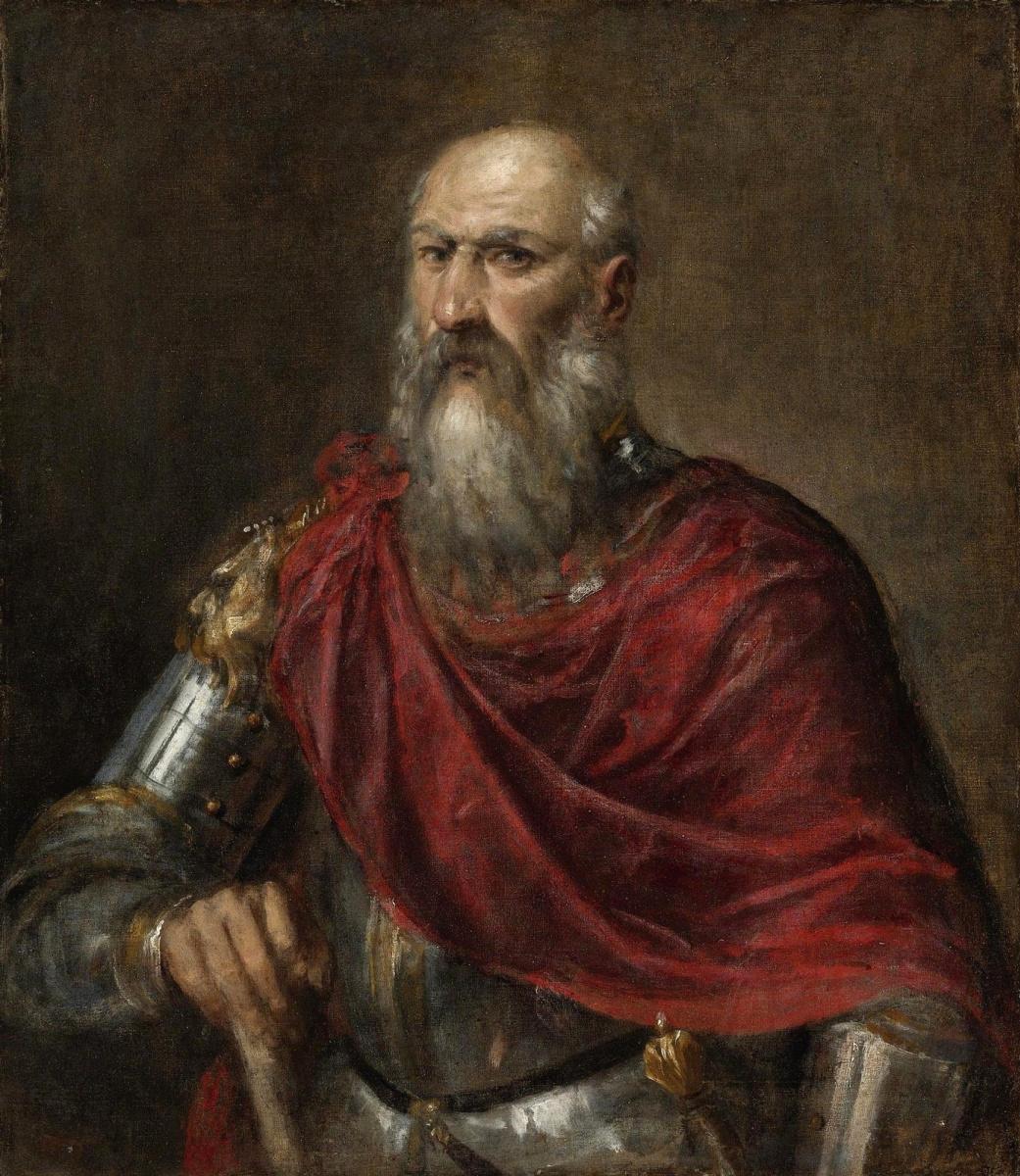 Titian Vecelli. Portrait of Admiral possibly Francesco Duodo