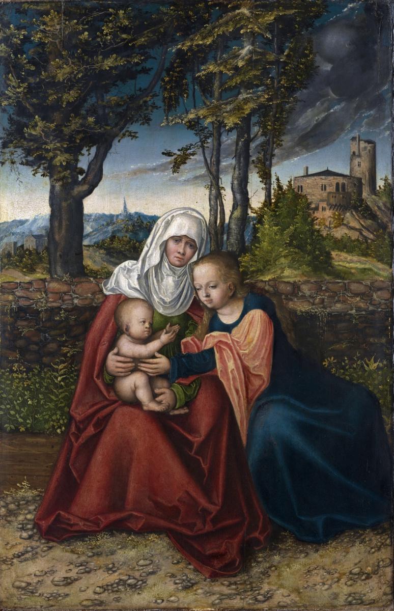 Лукас Кранах Старший. Мария с младенцем и Святая Анна