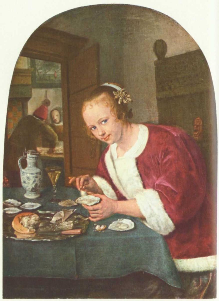 Ян Стен. Девушка с устрицами