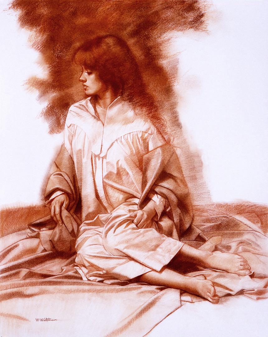Уильям Уитакер. Набросок рыжей женщины