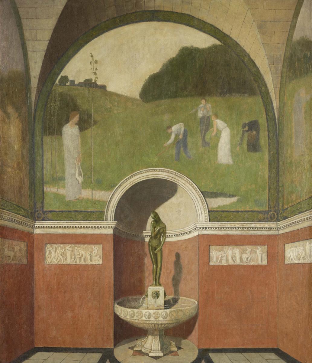 Александр Сеон. Decorative design, N/D Oil on canvas, 104.5 x 90.3 cm
