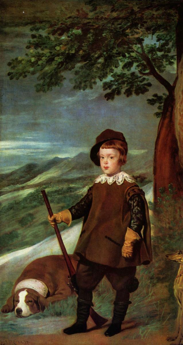 Диего Веласкес. Портрет принца Бальтазара Карлоса в охотничьем костюме
