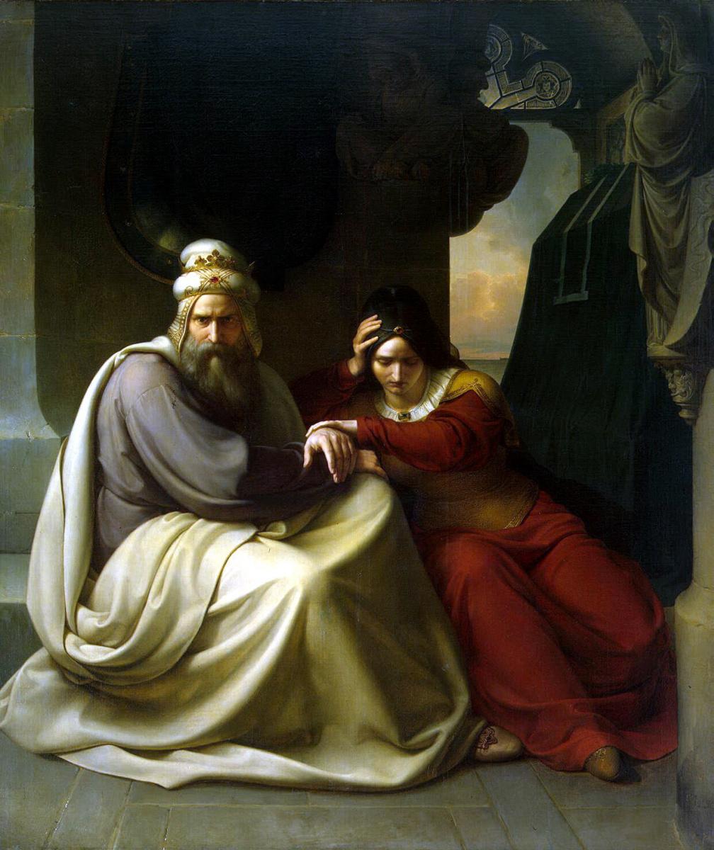 Карлд Фридрих Лессинг. Королевская чета, оплакивающая смерть дочери