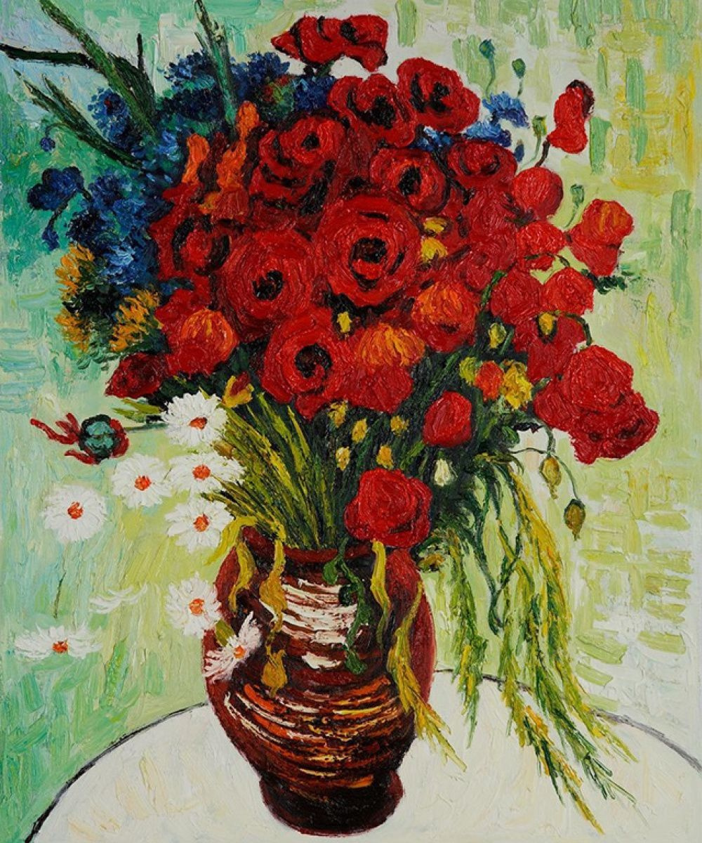 Vase With Daisies And Poppies By Vincent Van Gogh History Analysis