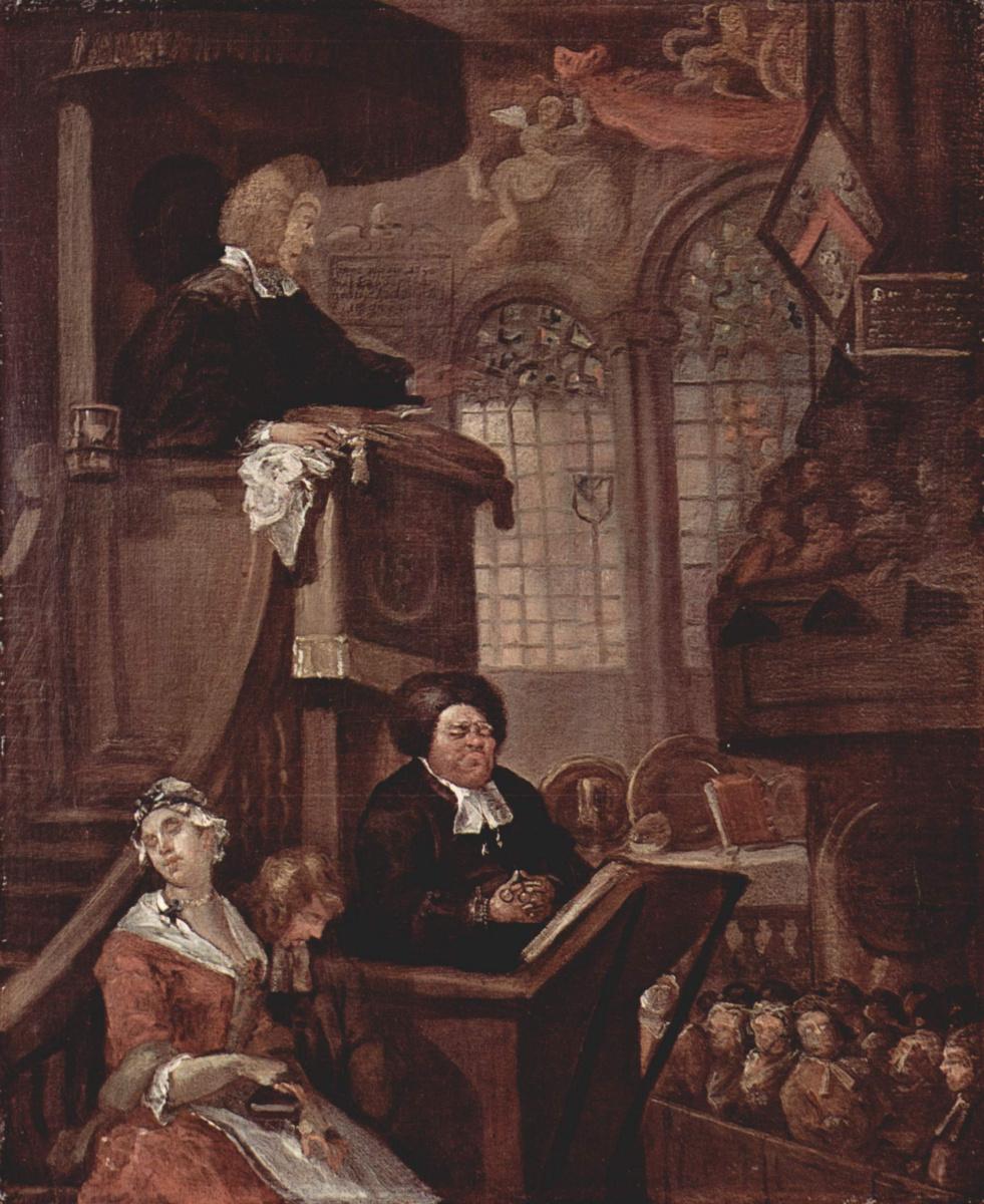 William Hogarth. The sleeping congregation