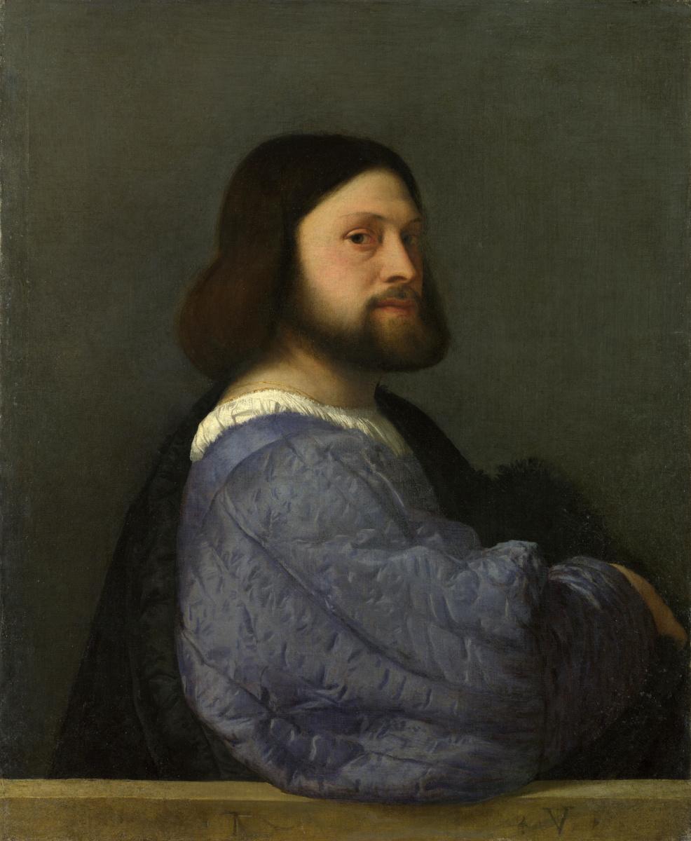 Тициан Вечеллио. Портрет Героламо Барбариго (Мужчина со стеганым рукавом)