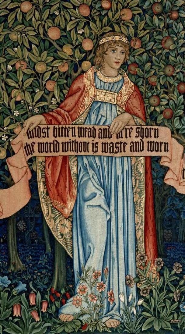 Уильям Моррис. Фруктовый сад. Фрагмент