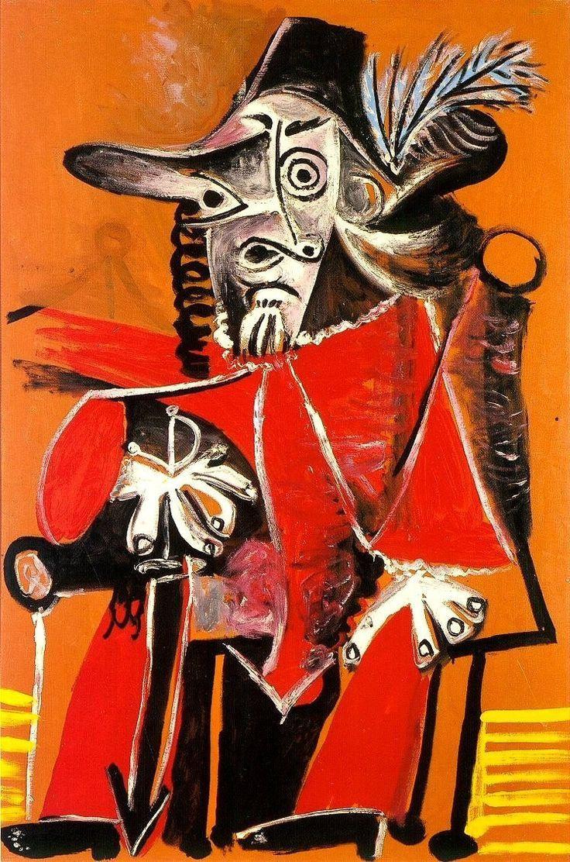 Пабло Пикассо. Сидящий мушкетёр с мечом