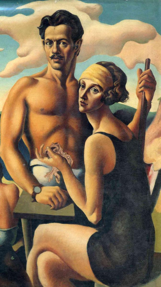 Томас Харт Бентон. Мужчина и женщина