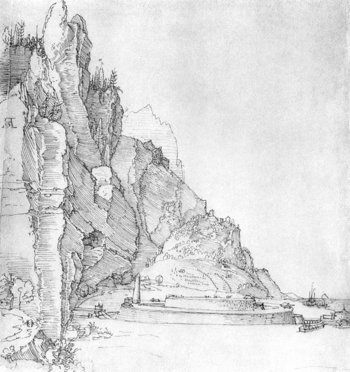 Albrecht Dürer. The fortress between mountains and the sea