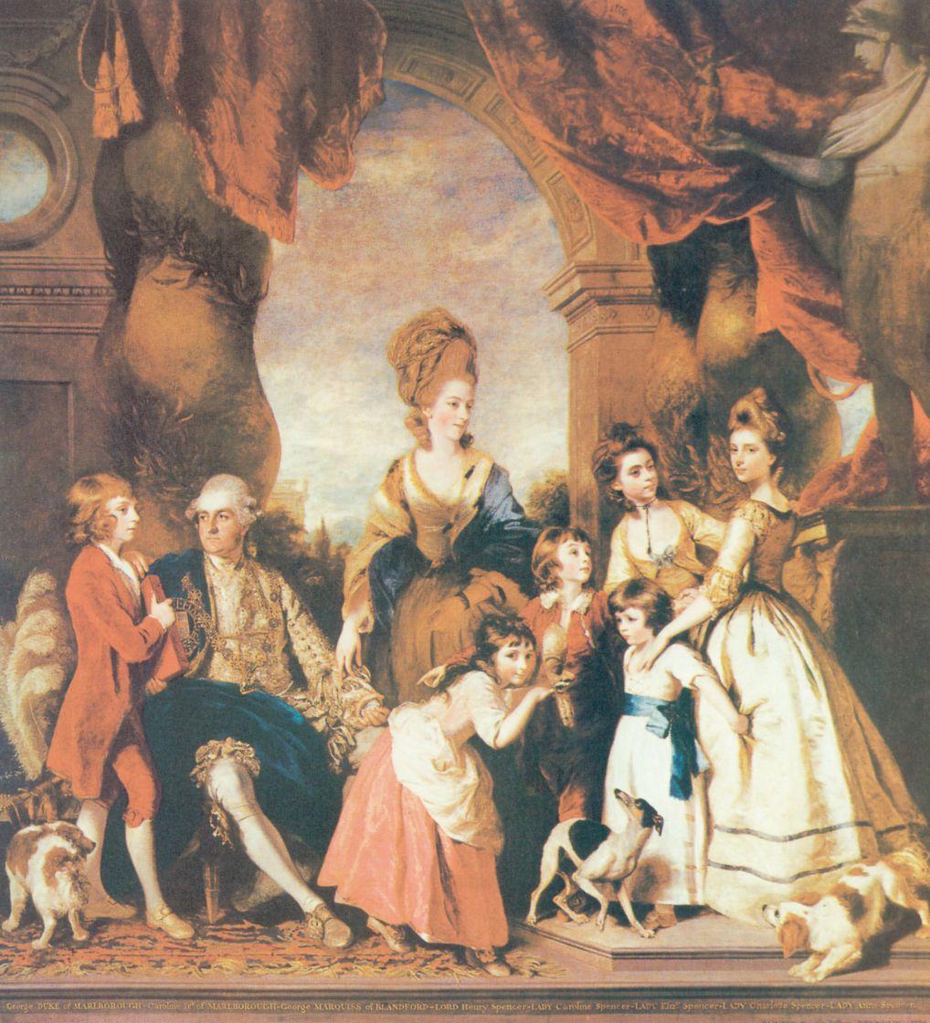 Джошуа Рейнолдс. Четвертый герцог и герцогиня с семейством