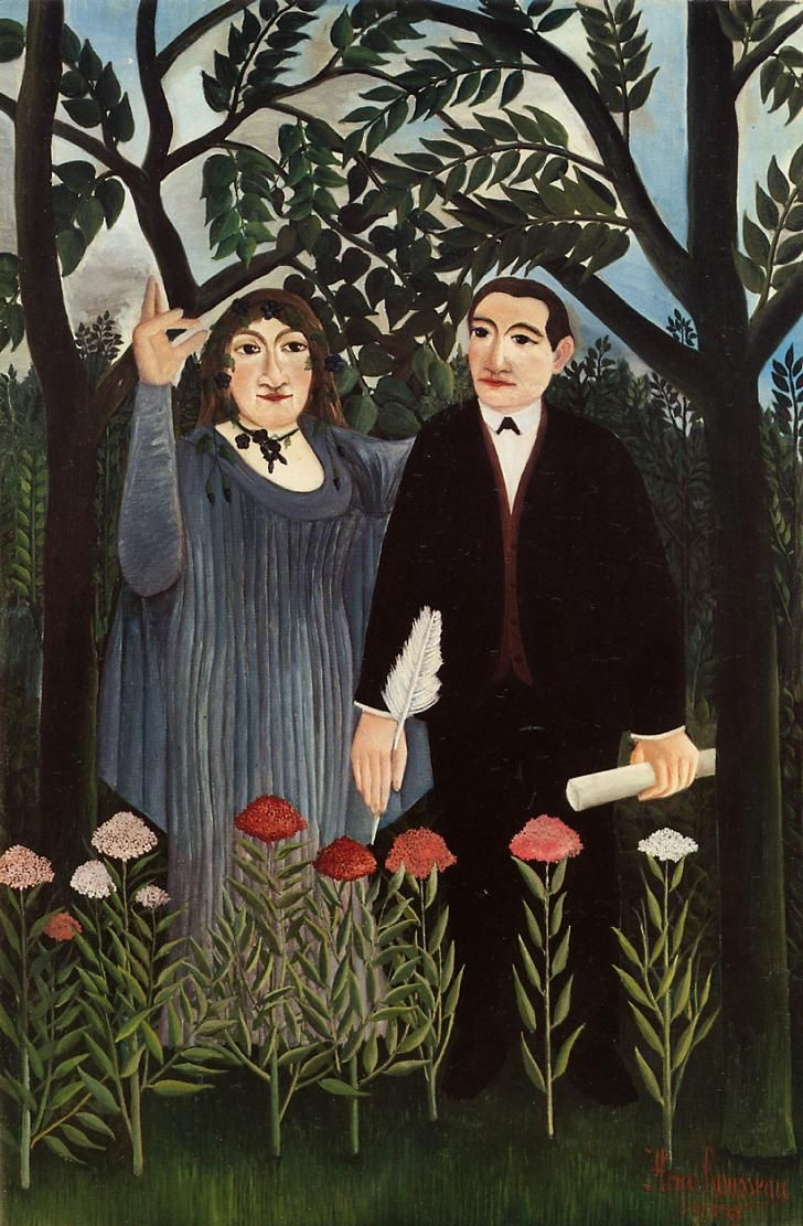 Henri Rousseau. The Muse inspiring the poet