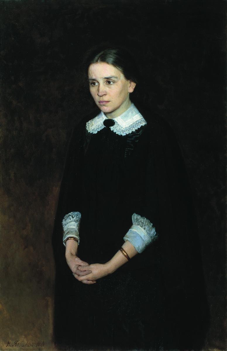 Nikolay Aleksandrovich Yaroshenko. Portrait of the actress Pelagia Antipevna Strepetova. 1884