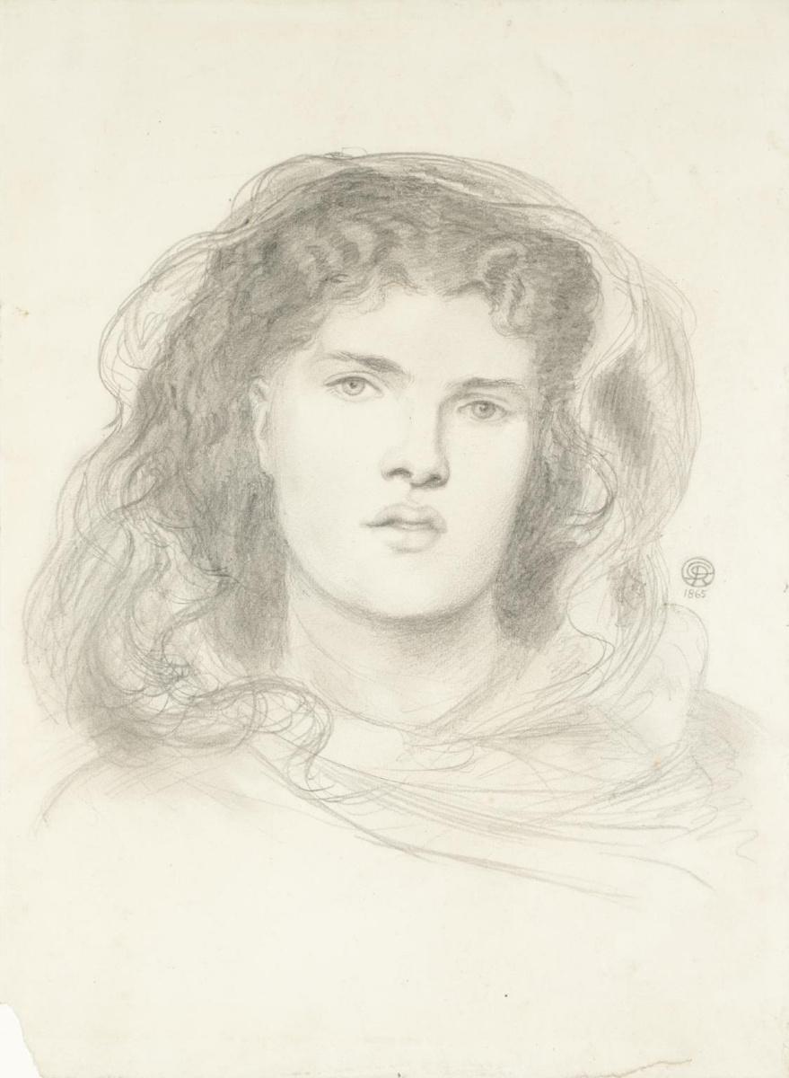 """Данте Габриэль Россетти. Портрет девушки. Эскиз для картины """"Невеста"""""""