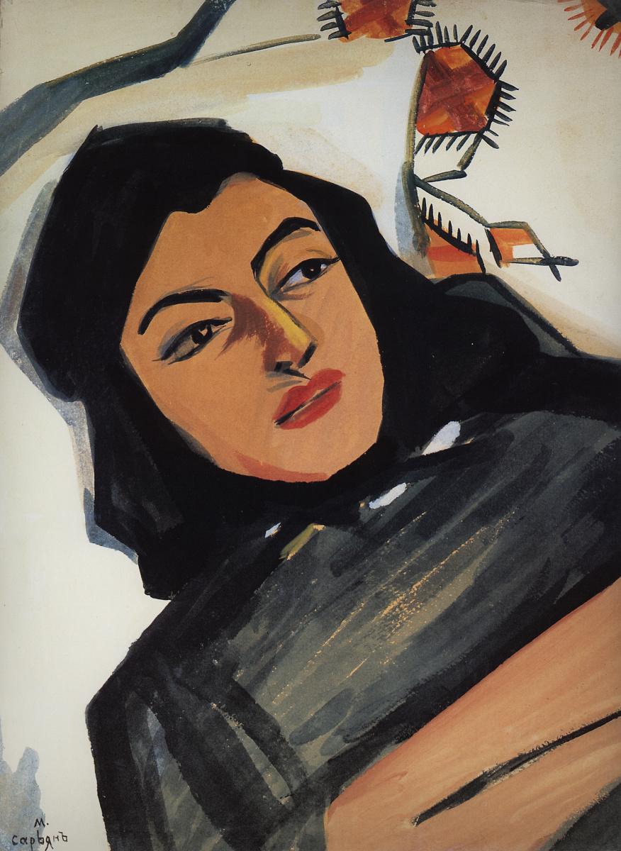 Мартирос Сергеевич Сарьян. Голова девушки (Мариам Тазахулахян)