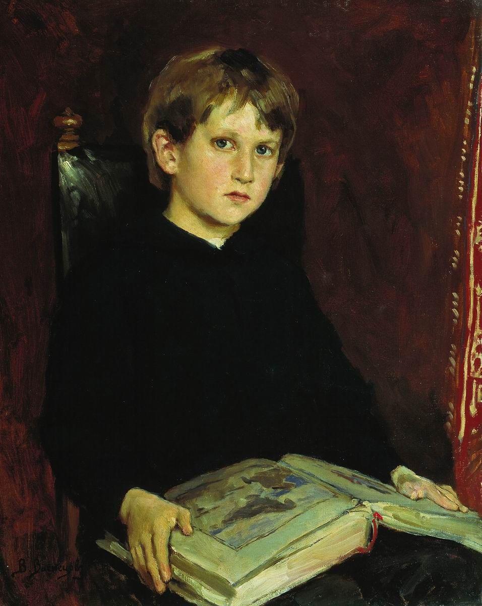 Виктор Михайлович Васнецов. Портрет М.В. Васнецова, сына художника, в детстве