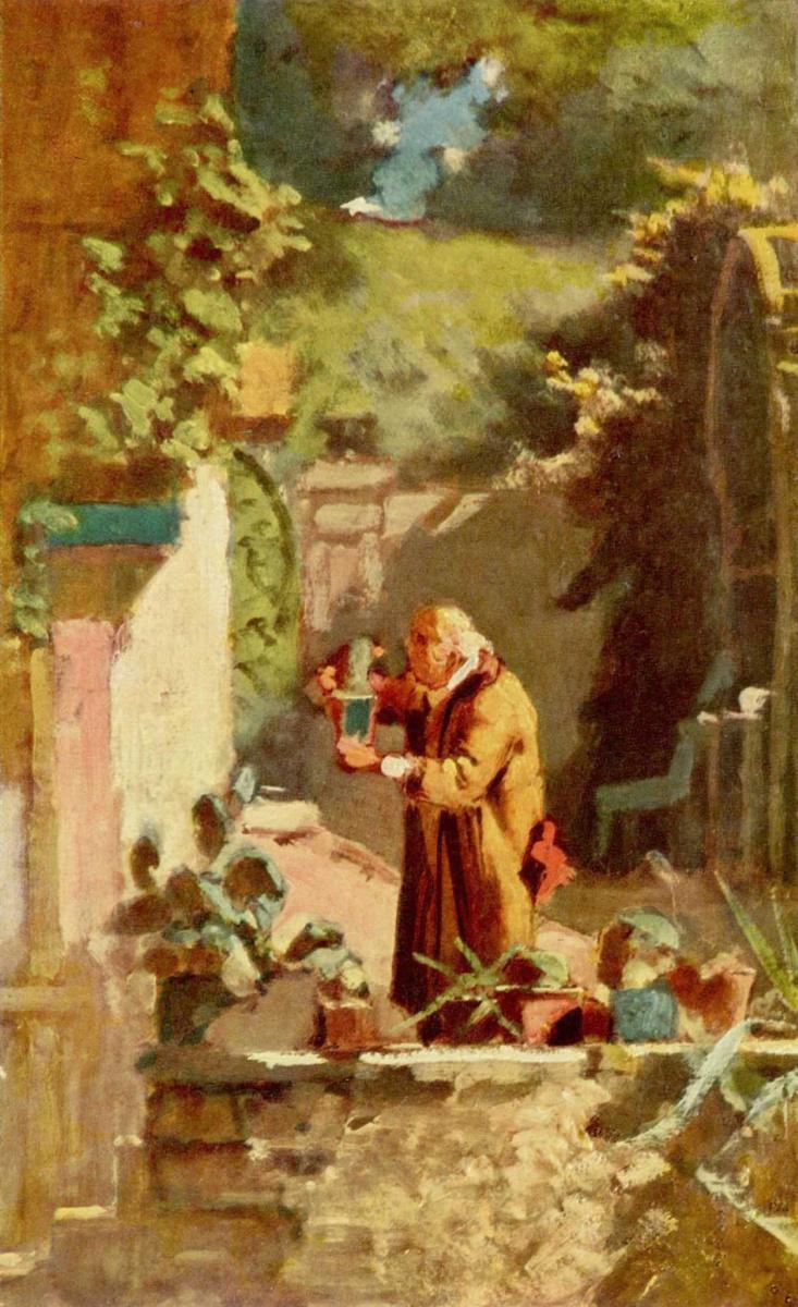 Карл Шпицвег. Господин пастор–любитель кактусов