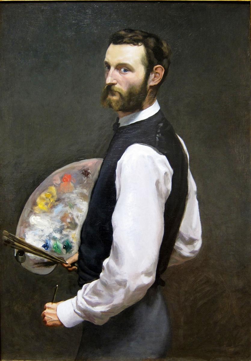 Frédéric Bazille. Self-portrait with palette