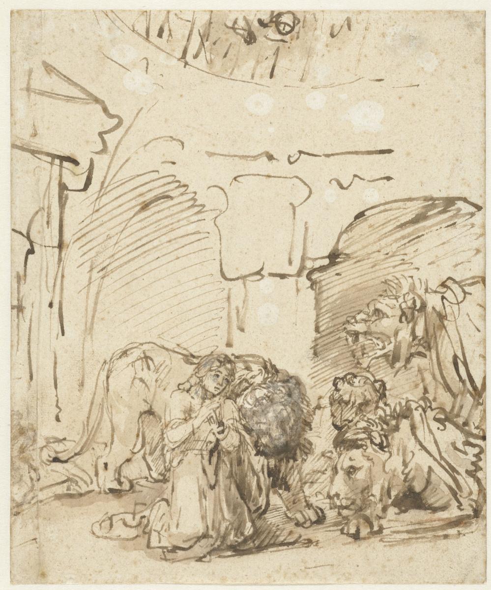 Рембрандт Харменс ван Рейн. Даниил во рву львином