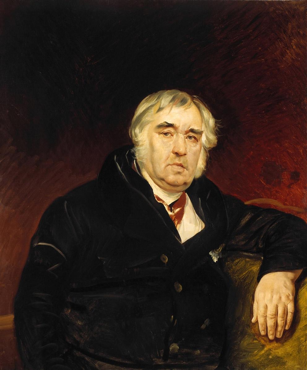 Karl Bryullov. Portrait of the fabulist Ivan Andreevich Krylov
