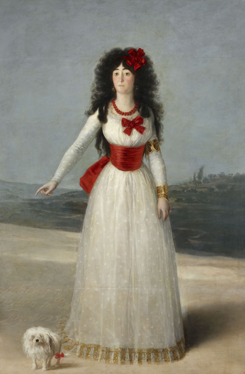 Francisco Goya. Portrait of Maria Teresa Cayetana de Silva, Duchess of Alba
