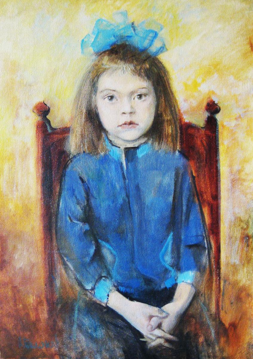 Александр Беляков. Лена. Портрет дочери.