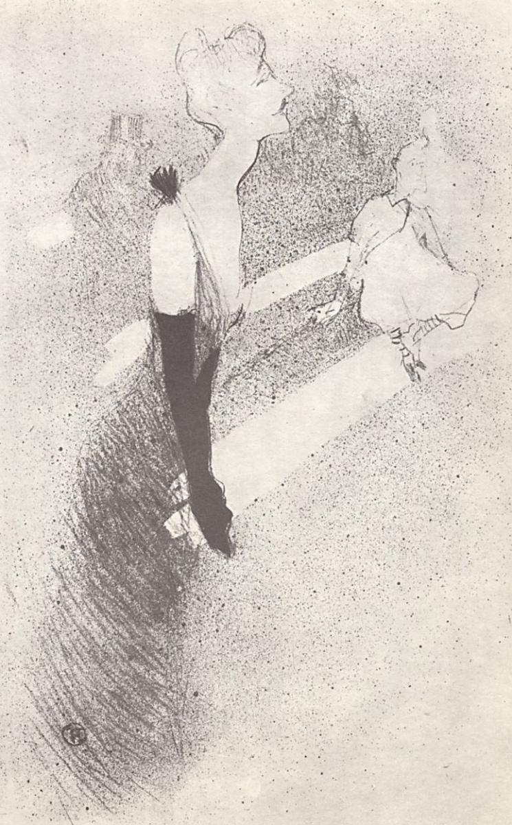 Анри де Тулуз-Лотрек. Иллюстрация к альбому Иветт Гильбер