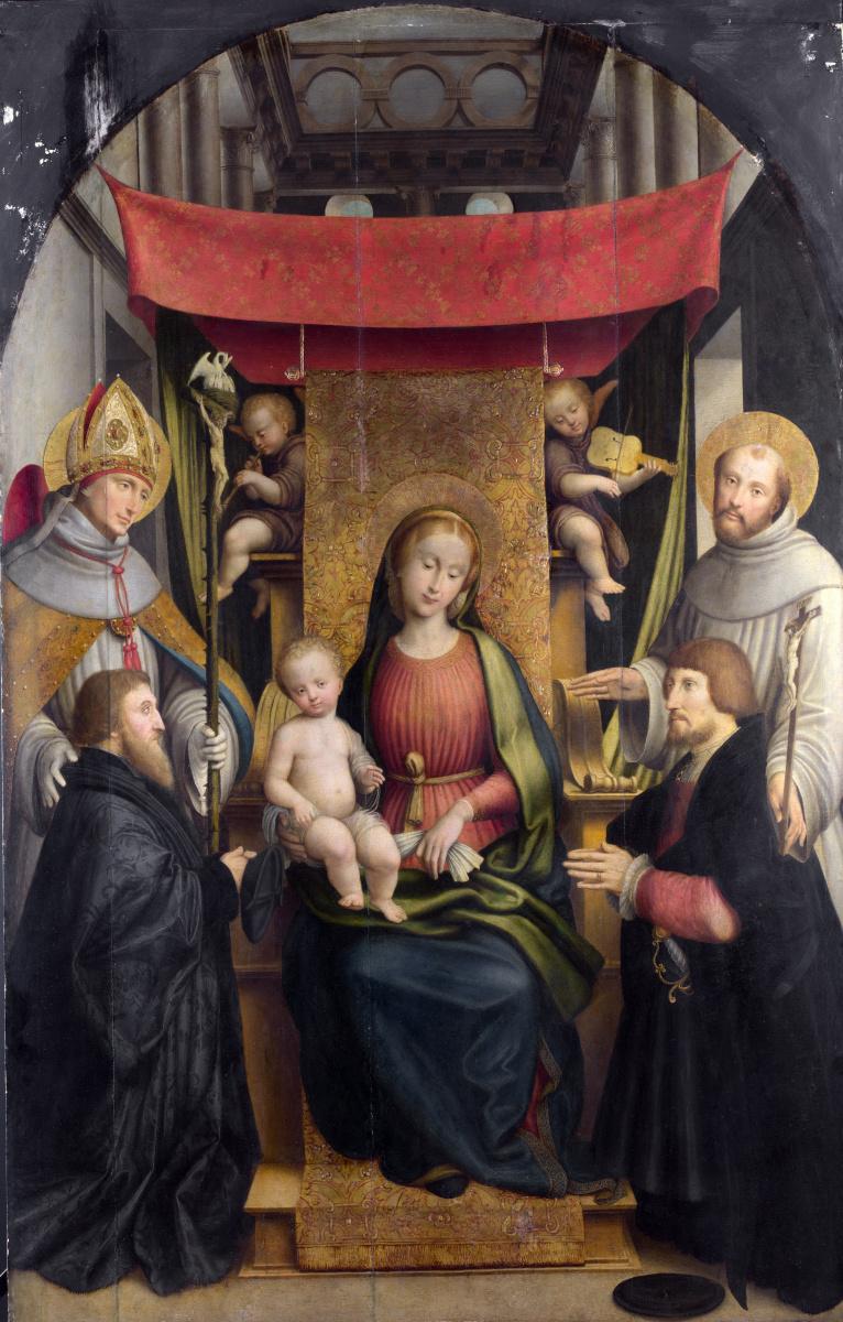 Гиовенон Джероламо. Дева с младенцем и святыми