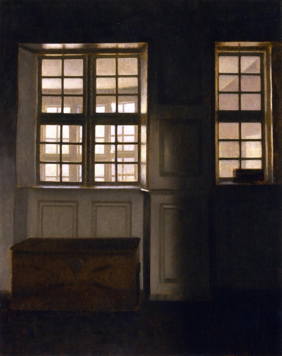 Вильгельм Хаммерсхёй. Интерьер с видом на внешнюю галерею