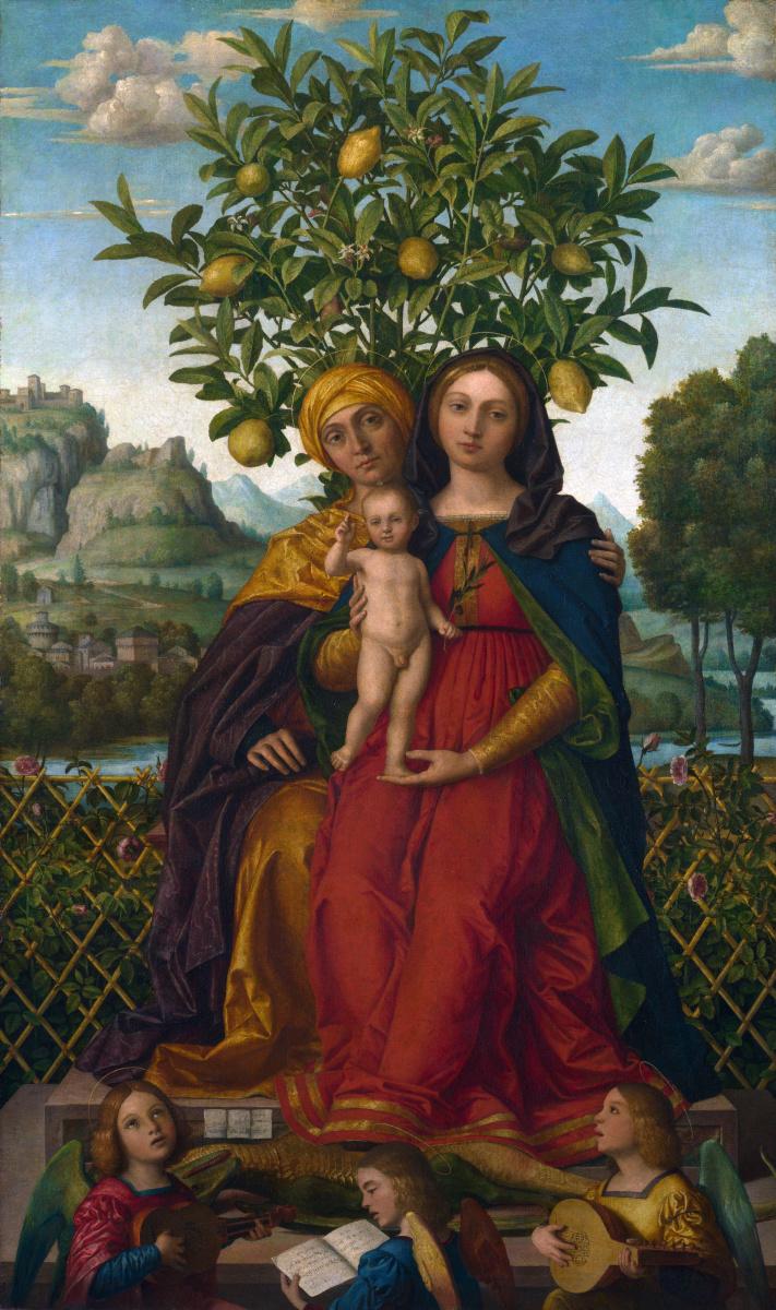 Дай Либри Джероламо. Дева с младенцем и Святой Анной